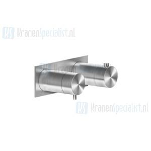 Gessi Bagno Gessi 316 Afbouwdeel voor inbouw 2-weg bad/douche thermostaatkraan 3/4 met 1/2 uitgangen filters en keramische schijven. Geborsteld Koper Artikelnummer 54034.708