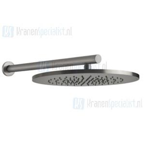 Gessi Bagno Gessi 316 Verstelbare 1/2 hoofddouche ?350 mm met antikalk voor wandmontage. Geborsteld Staal Artikelnummer 54148.239