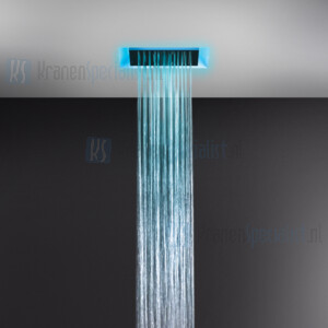 Gessi Afilo 300x300 ingebouwd multifunctioneel systeem met RAINFALL / WATERFALL-functie en chromotherapie-effect voor vals-plafondmontage. Elektronische onderdelen meegeleverd met waterdichte afstandsbediening en haak. Te matchen met 12V-voeding niet