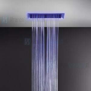 Gessi Afilo Ingebouwd multifunctioneel systeem van 300x500 met RAINFALL / WATERFALL / MIST-functie en chromotherapie-effect voor vals-plafondmontage. Elektronische onderdelen meegeleverd met waterdichte afstandsbediening en haak. Te matchen met 12V-v