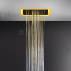 Gessi Afilo Ingebouwd douchesysteem van 500x500 met RAINFALL-functie en chromotherapie-effect voor vals-plafondmontage. Elektronische onderdelen meegeleverd met waterdichte afstandsbediening en haak. Te matchen met 12V-voeding niet inbegrepen. Option