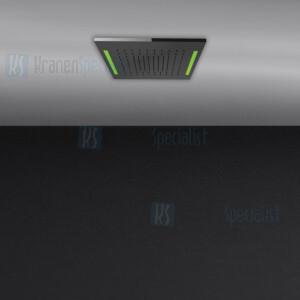 Gessi Colour 2017 350x350 douchesysteem met RAINFALL-functie en chromotherapie-effect voor vals-plafondmontage .. Elektronische onderdelen meegeleverd met waterdichte afstandsbediening en haak. Te matchen met 12V-voeding niet inbegrepen. Optionele 12
