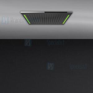 Gessi Colour 2017 300x500 douchesysteem met RAINFALL-functie en chromotherapie-effect voor vals-plafondmontage .. Elektronische onderdelen inbegrepen met waterdichte afstandsbediening en haak. Te matchen met 12V-voeding niet inbegrepen. Optionele 12