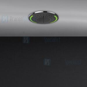 Gessi Colour 2017 ?350 multifunctioneel systeem met RAINFALL / WATERFALL / MIST-functie en chromotherapie-effect voor installatie aan plafond / vals plafond. Elektronische onderdelen meegeleverd met waterdichte afstandsbediening en haak. Te matchen m