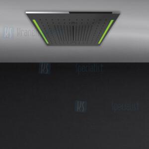 Gessi Colour 2017 500x500 multifunctioneel systeem met RAINFALL / WATERFALL / MIST-functie en chromotherapie-effect voor installatie aan plafond / vals plafond. Elektronische onderdelen meegeleverd met waterdichte afstandsbediening en haak. Te matche