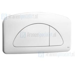 Oliver International Dual bedieningspaneel wit voor dubbele spoeling (dual flush