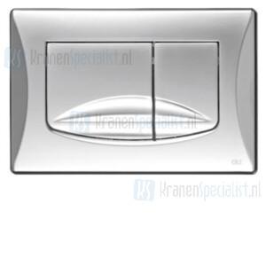 Oliver International River-Adriatico bedieningspaneel mat chroom voor dubbele spoeling (dual flush)