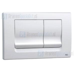 Oliver International Ria bedieningspaneel wit voor dubbele spoeling (dual flush)