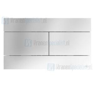 Oliver International SLIM bedieningspaneel voor dubbele spoeling (dual flush) Inox