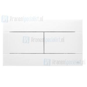 Oliver International SLIM bedieningspaneel voor dubbele spoeling (dual flush) Wit