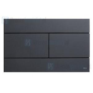 Oliver International SLIM bedieningspaneel voor dubbele spoeling (dual flush) Mat Zwart