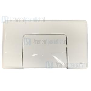 Oliver International Diamante bedieningspaneel wit voor enkele spoeling (single flush)