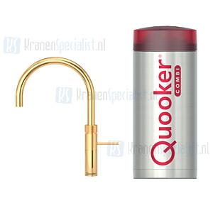 Quooker Fusion Round  3-in-1 kraan Goud incl Combi E 2200W boiler