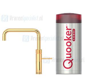 Quooker Fusion Square  3-in-1 kraan Goud incl Combi E 2200W boiler