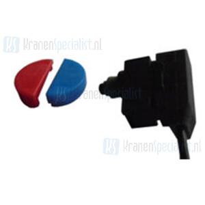 Reich Microschakelaar + dopje rood/blauw Voor oa Samba