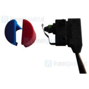 Reich Microschakelaar + dopje rood/blauw Voor Vector, contur E, Trend E en Carino