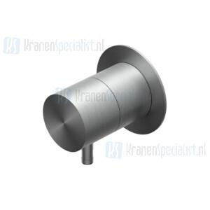 Ritmonio Diametro35 INOX Stopkraan met 1 3/4 uitgang Black Stainless Steel