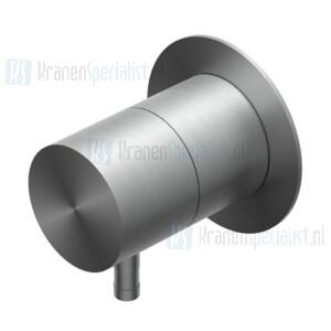 Ritmonio Diametro35 INOX Omstel Compleet (in en afbouwdeel) Black Stainless Steel