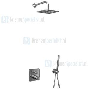 Ideal Standard Idealrain Showerpower set Idealrain Cube / Ceratherm 200 inbouwthermostaat met omstelling, inclusief EASY-Box Chroom