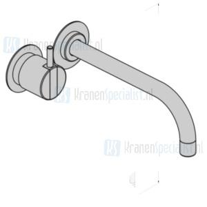 Vola Bedieningsknop NR18 225 mm vaste uitloop 020 rozetten 60 mm 001 3001. Chroom Artikelnummer 121AP+16