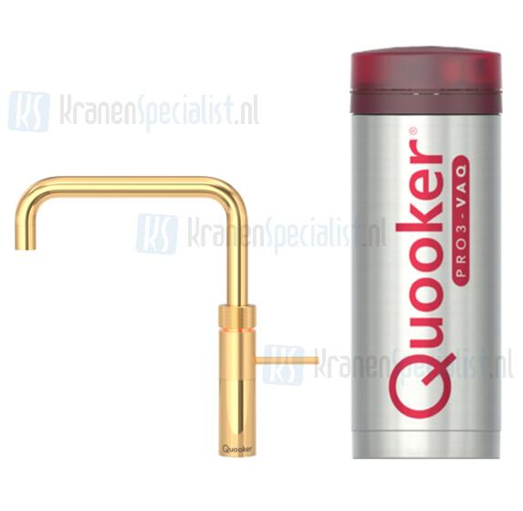 Quooker Fusion Square  3-in-1 kraan Goud incl Pro3 VAQ E 1600W boiler