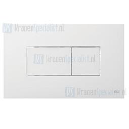 Oliver International Karisma bedieningspaneel wit voor dubbele spoeling (dual flush)