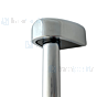 Haceka Standaard glijstang 60cm zonder garnituur met glijstuk chroom