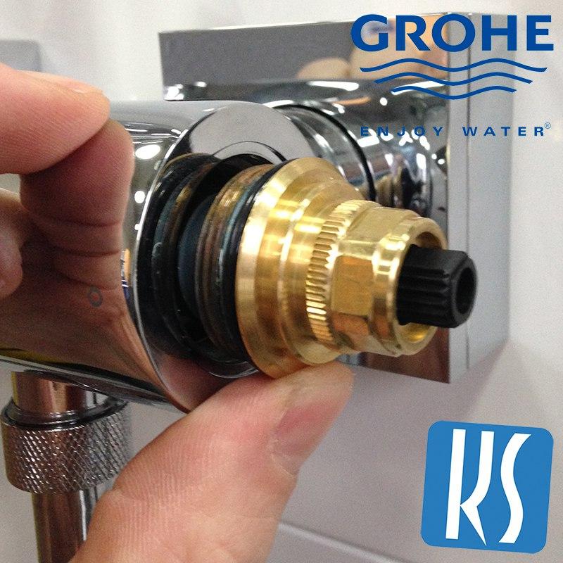 Instellen grohe thermostaatkraan for Waterglas gamma